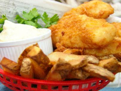 Battered Pollock Strips